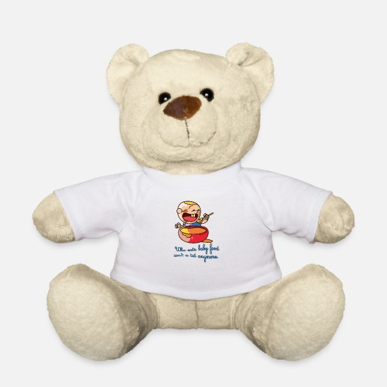 Body Teddy Bear Toys - Death Baby Food Baby Body Design - Teddy Bear white
