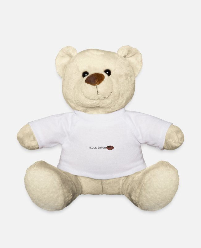 Stadium Teddy Bear Toys - ilove football - Teddy Bear white