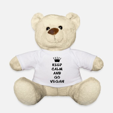 Keep calm and go vegan - Osito de peluche