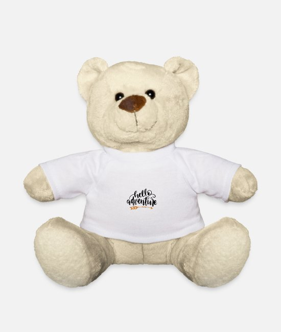Hay Teddy Bear Toys - Hello adventure adventure outdoor motif - Teddy Bear white