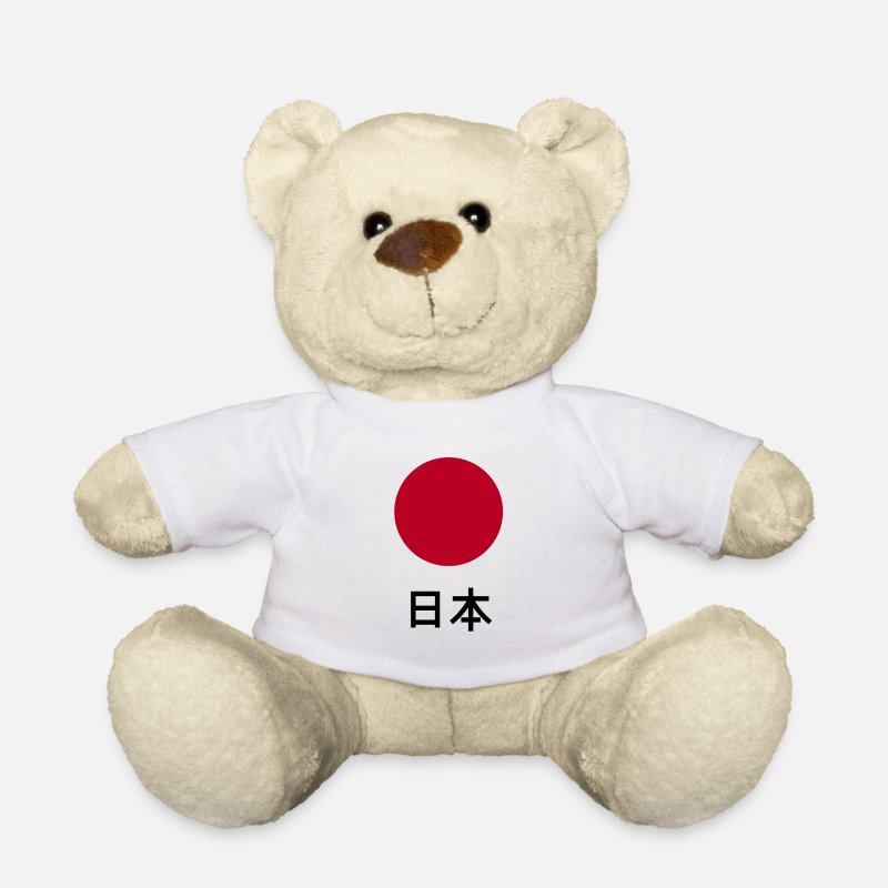 Flag Teddy Bear Toys - Japan / Nippon / Nihon - Teddy Bear white