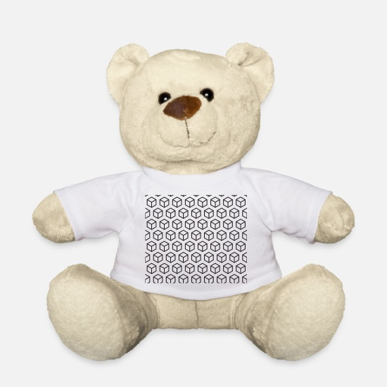 Illusion Teddy Bear Toys - optical illusion - Teddy Bear white