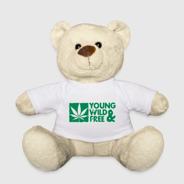 Weed young wild and free weed leaf boxed - Teddy Bear