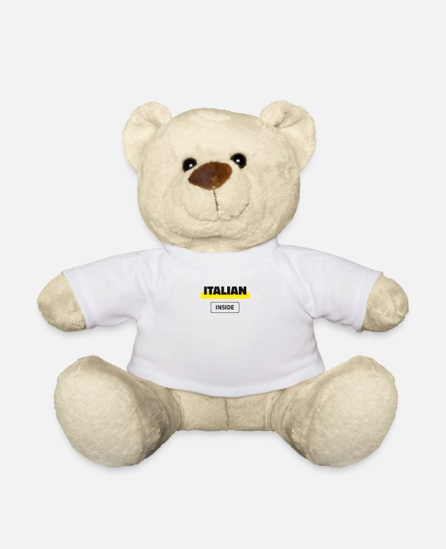 Proud Teddy Bear Toys - Italian Inside - Teddy Bear white
