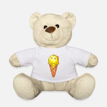 Beach Retro vintage grunge style ice cream - Teddy Bear
