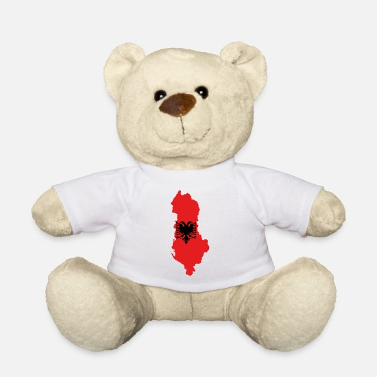 Flag Teddy Bear Toys - albania - Teddy Bear white