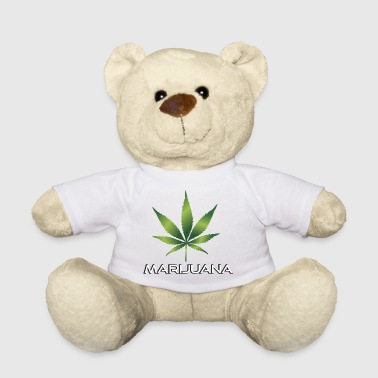 Green marijuana leaf - Teddy Bear