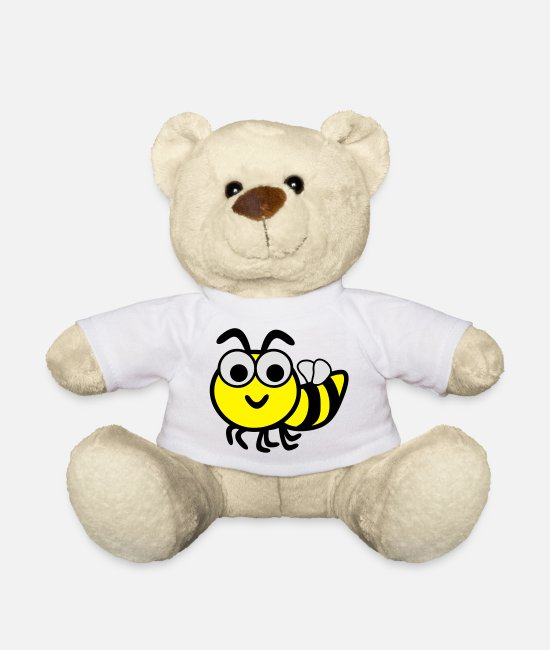 Bij Teddy Bear Toys - Funny Bee - Teddy Bear white