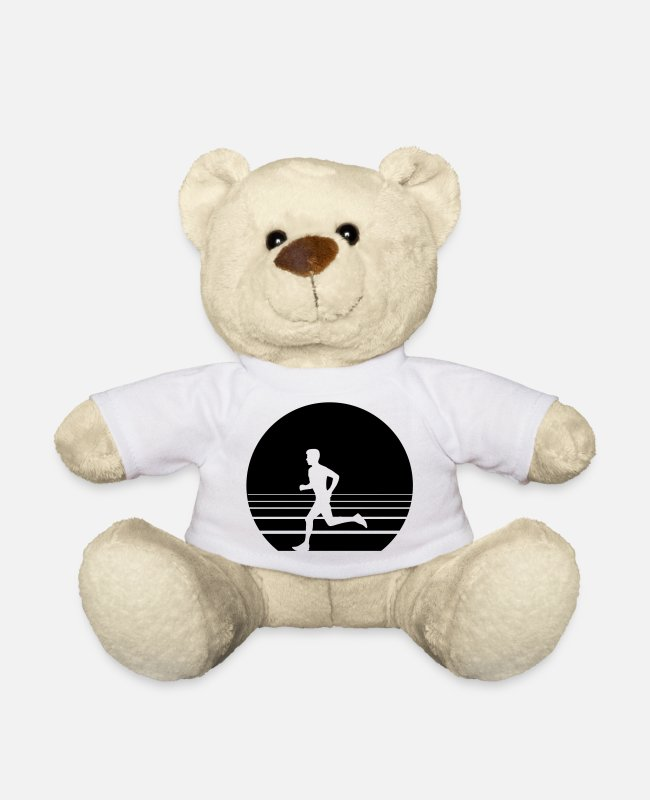 Speed Teddy Bear Toys - Runner Sundown - Teddy Bear white