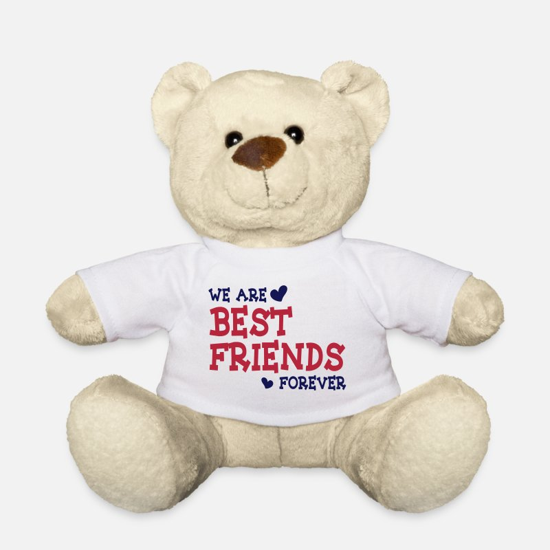 Meilleurs Amis Peluches - we are best friends forever ii 2c - Ours en peluche blanc