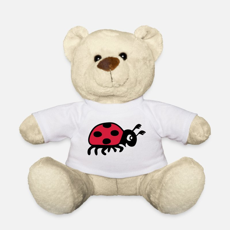 Animal Teddy Bear Toys - ladybug ladybird lady beetle  - Teddy Bear white