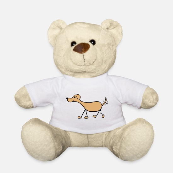 Love Teddy Bear Toys - Funny Dog Drawing - Teddy Bear white
