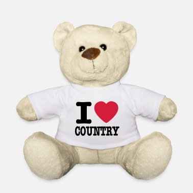 Country i love country / i heart country - Teddybjørn