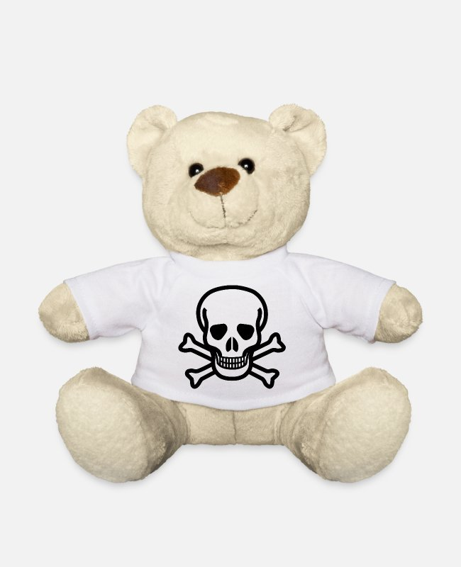 Gold Teddy Bear Toys - pirate ship boat pirate pirate ship ship skull4 - Teddy Bear white