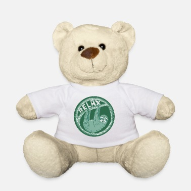 Relax - Green sloth - Teddy Bear