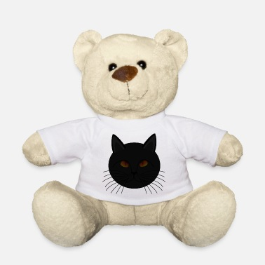 Superstition Dark black cat bad luck superstition - Teddy Bear