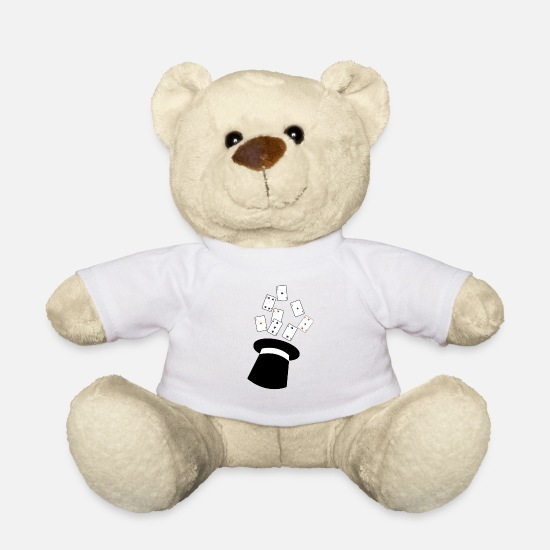 Sorcerer Teddy Bear Toys - magic show - Teddy Bear white