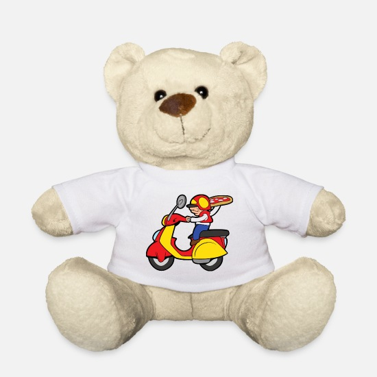 Delivery Teddy Bear Toys - Pizza delivery delivery baker pizzeria - Teddy Bear white