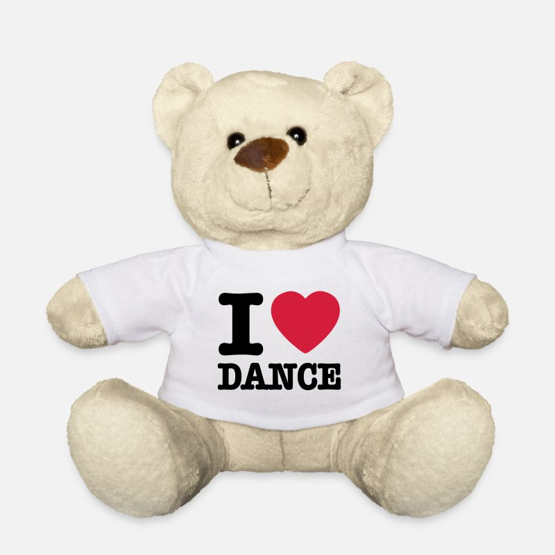 Dance Teddy Bear Toys - I love dance / I heart dance - Teddy Bear white