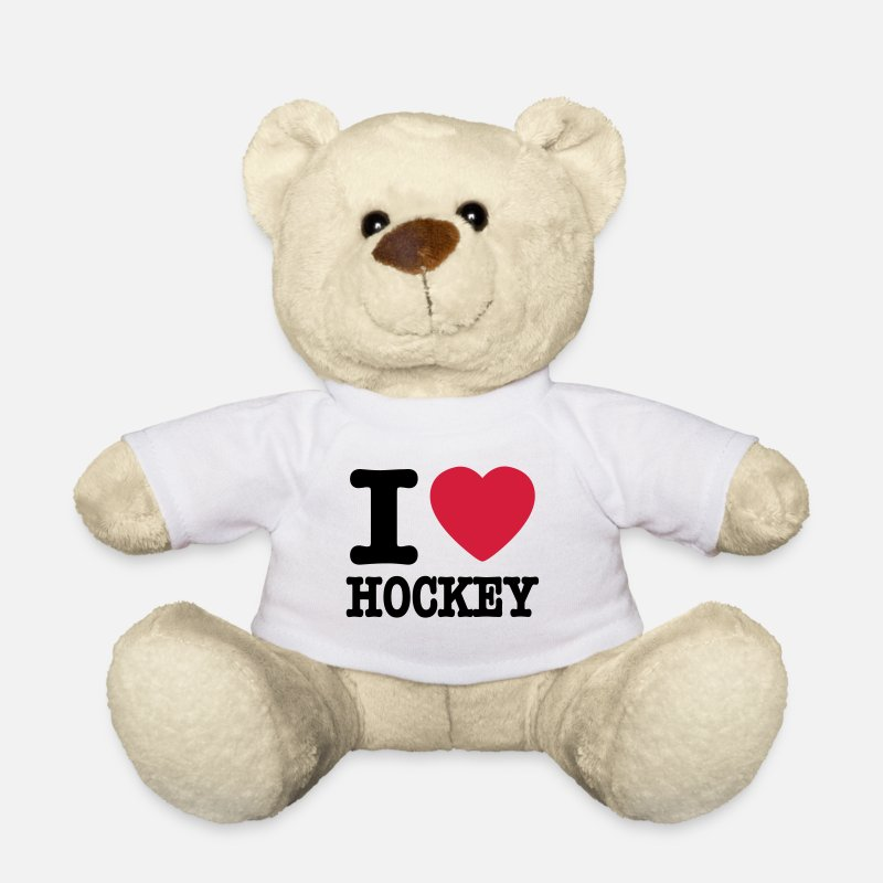 I Love Hockey Teddy Bear Toys - i love hockey - Teddy Bear white