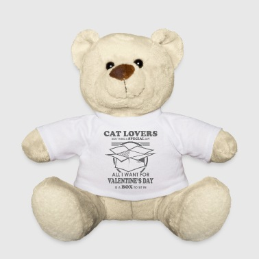 Cats Valentines Day Box Cardboard Cat Gift - Teddy Bear