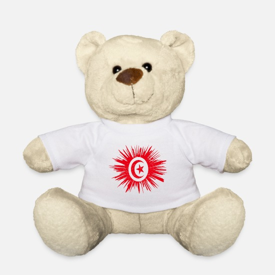 Root Teddy Bear Toys - Gift Splatter Land Roots Tunisia - Teddy Bear white