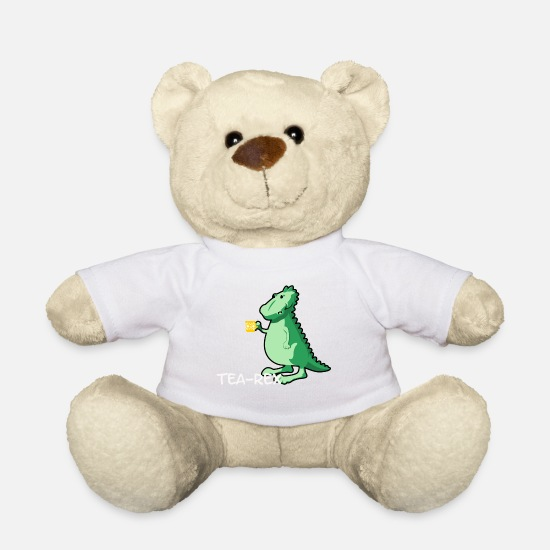Tea Teddy Bear Toys - Tea-Rex - for tea lovers - Teddy Bear white