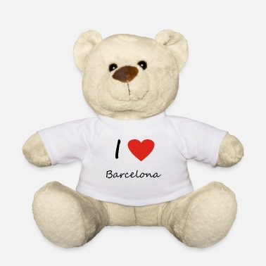 I Love Barcelona Barcelona Heart idea regalo Spagna - Orsetto