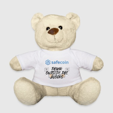 SafeCoin; Think Outside the Blocks (zwart + blauw) - Teddy