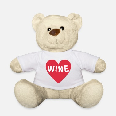 Liquor Alcohol saying WINE - Teddy Bear