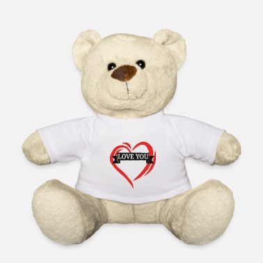 Love With Heart love you heart i love you heart love with heart - Teddy Bear