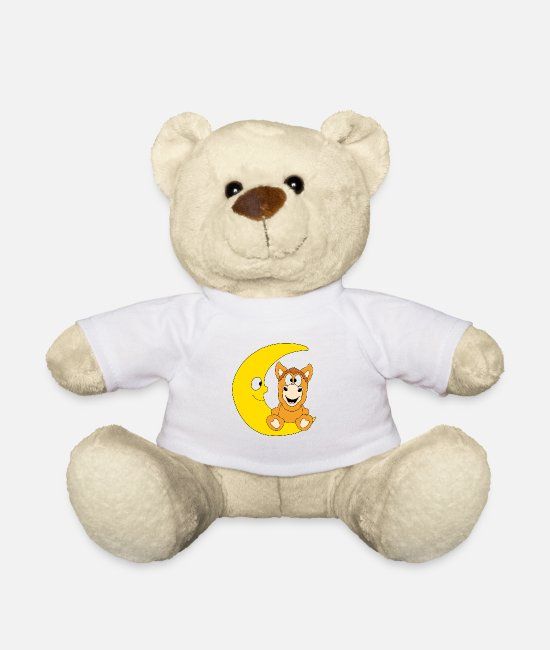 Father's Day Teddy Bear Toys - Funny horse - pony - horse - moon - child - baby - Teddy Bear white