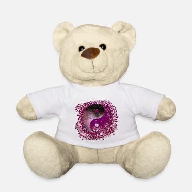 Astronomical Symbol Yin and Yang purple blobs splatter 1 galaxy - Teddy Bear