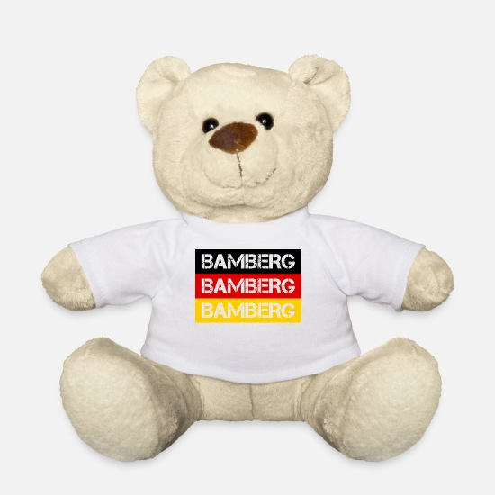Federal Republic Of Germany Teddy Bear Toys - STADT BAMBERG, GERMANY - Teddy Bear white