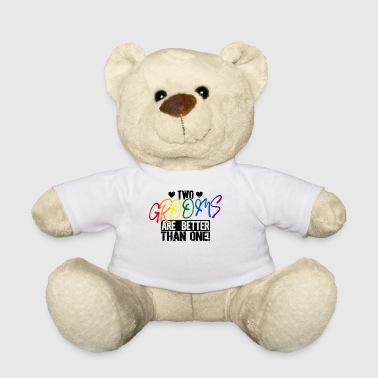 LGBT Gay Two Grooms Wedding - Gift - Teddy Bear