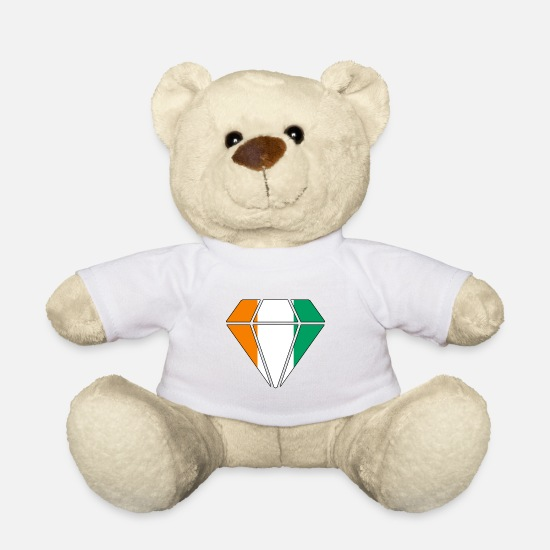 Gift Idea Teddy Bear Toys - Gift diamond home roots Ivory Coast - Teddy Bear white