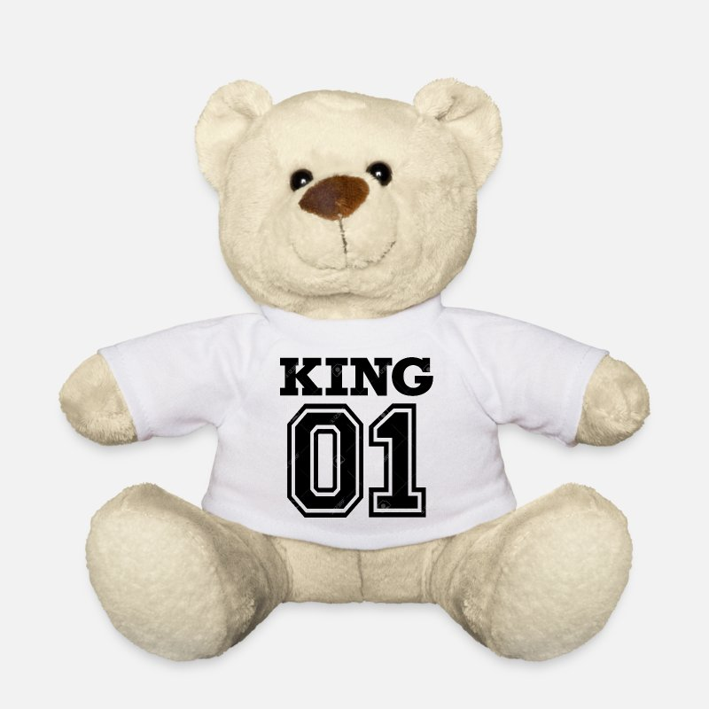 Humour Peluches - King 01 - Ours en peluche blanc