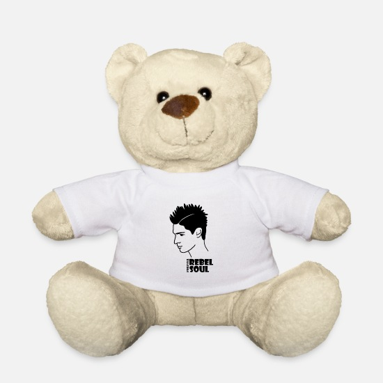 Rebellion Teddy Bear Toys - Rebel soul - Teddy Bear white