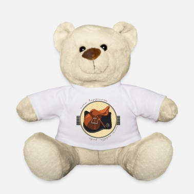 Saddle horsetshirt saddle happy luxury saddle saddle pad - Teddy Bear
