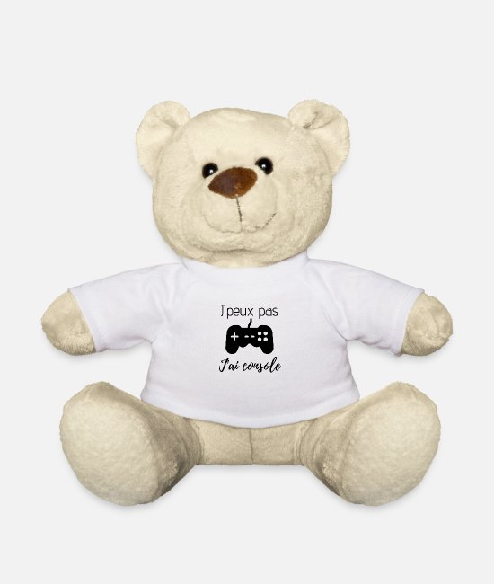 Video Game Teddy Bear Toys - I can not console - Teddy Bear white