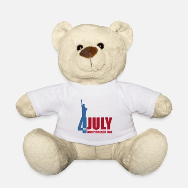 July 4 4 July is Independence Day - Teddy Bear