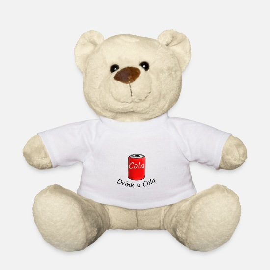 Gift Idea Teddy Bear Toys - Can of cola with lettering lettering Drink - Teddy Bear white