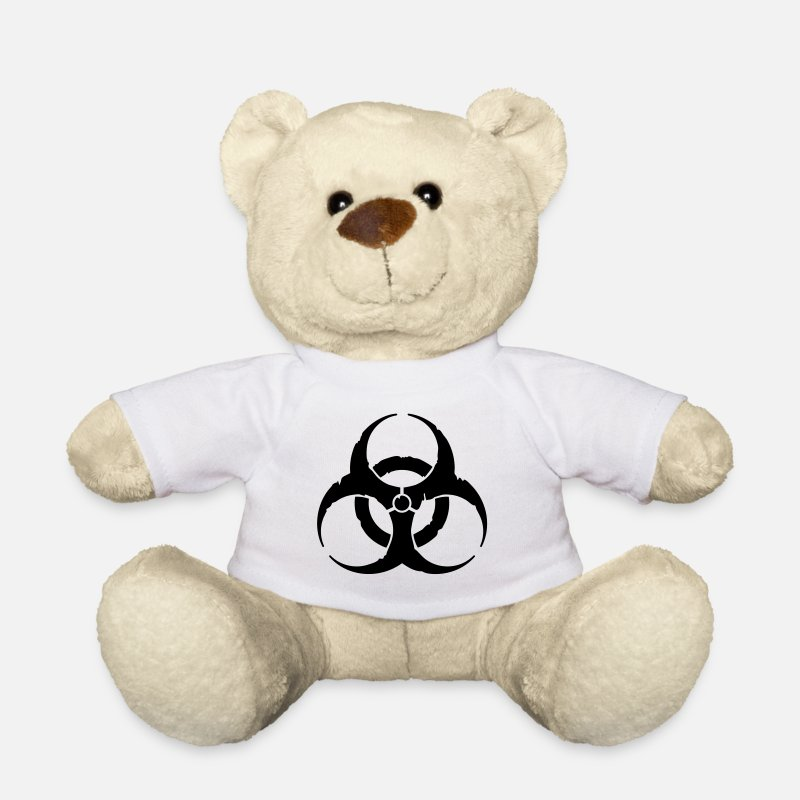 Dubstep Knuffeldieren - hazard worn out light / hazardous distressed - Teddybeer wit