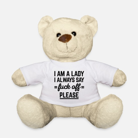 Cool Knuffeldieren - I Am A Lady Funny Quote - Teddybeer wit