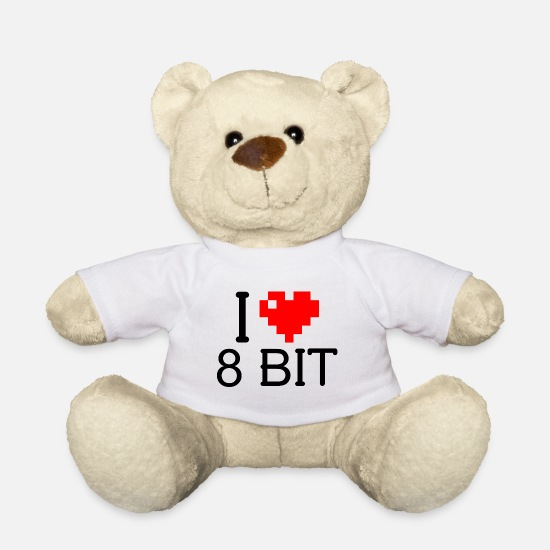 Love Teddy Bear Toys - love 8 bit - Teddy Bear white