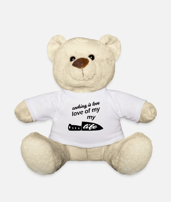 Love Teddy Bear Toys - cooking is the love of my life - Teddy Bear white
