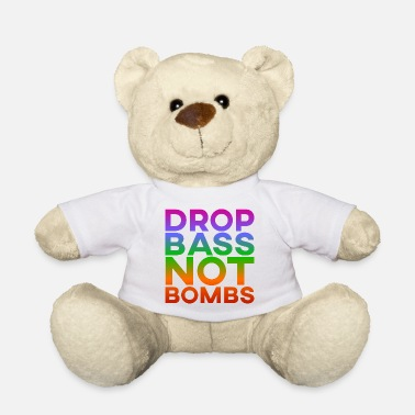Rave Drop Bass Not Bombs - Ours en peluche