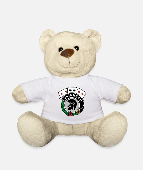 Che Teddy Bear Toys - Trojan redskinhead - Teddy Bear white