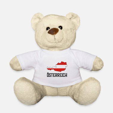 National Colours Austria national national colors home gift - Teddy Bear