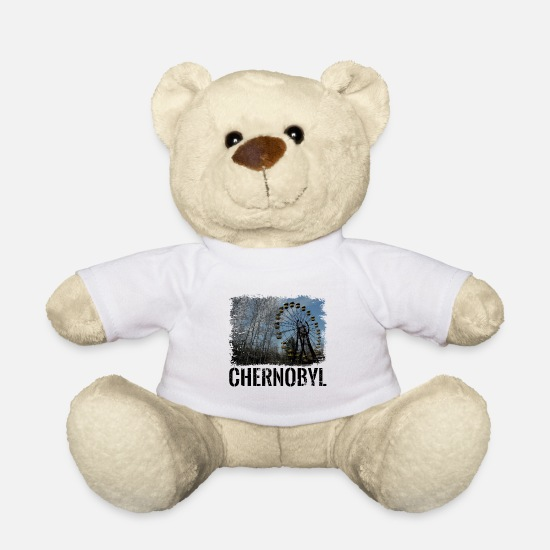 Chernobyl Teddy Bear Toys - Chernobyl nuclear power radioactive pripyat gift - Teddy Bear white